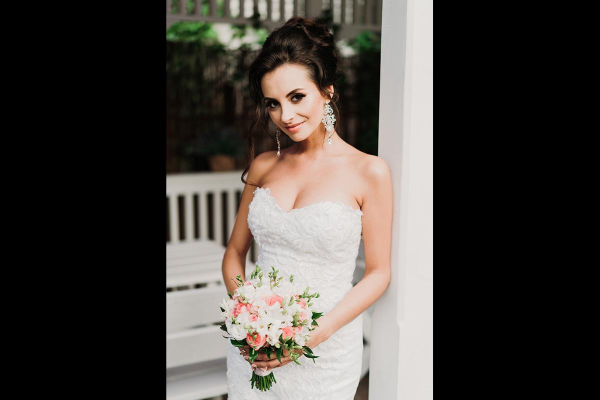 portret panny młodej, wesele nad zegrzem