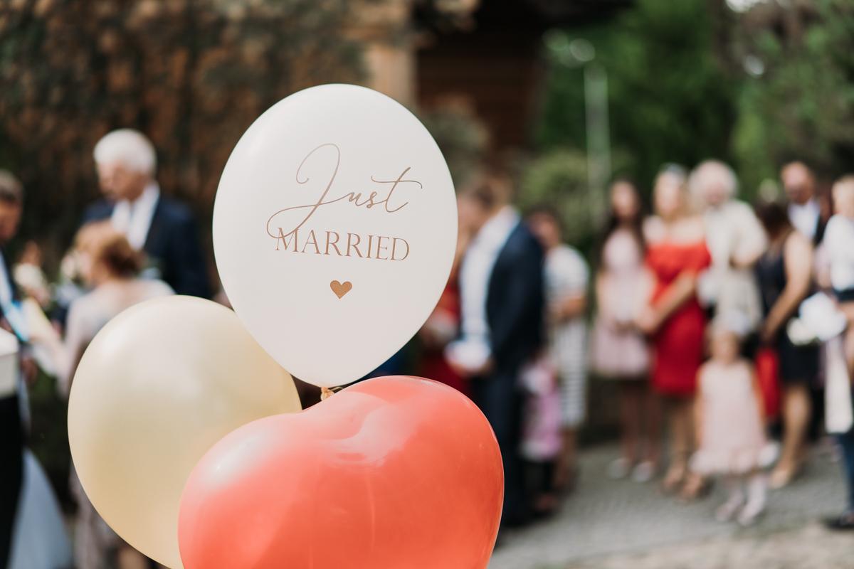 wesele nad zalewem zegrzyńskim, balony ślubne